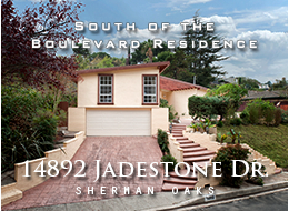 14892 Jadestone Drive, Sherman Oaks - Take in the beauty of the hills of Sherman Oaks from this exquisitely remodeled 4 BD / 2.5 BA home. A marble floor entry reveals a warm and expansive floor plan, featuring wood floors throughout, formal dining room, living and family rooms with back-to-back fireplaces and easy pool access, as well as  a beautifully reimagined kitchen with stone counters, custom wood cabinets and stainless steel appliances. The large, step-up master suite offers spectacular views, dual vanity sinks and a sense of seclusion from the rest of the home. Outside offers boundless possibilities by way of a pool, ample entertaining areas, and built-in BBQ. Experience Valley living at its best.