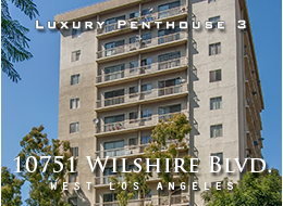 10751 Wilshire Boulevard Penthouse 3, Los Angeles - High atop the Wilshire Corridor sits this tastefully remodeled 1 bedroom, 1.5 bathroom penthouse. Take in the city below as you enjoy rich wood floors throughout, a kitchen with granite counter tops, stainless steel appliances and separate tub and shower in the master bath. The building boasts an elegant lobby, complete with 24-hour concierge service, along with a pool, sauna and outdoor entertaining area. All of this, plus moments from UCLA/Westwood Village and some of the lowest HOA dues on the entire Corridor make this home a hidden treasure not to be missed.