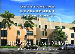Existing rental income of ± $30,000/month.  Beverly Hills tenant vacation process complete.  Planning commission approval; only project approved with these price point units.  Thirty units; 1, 2 and 3 bedrooms; half with private entrances; penthouse with private terrace.  55,000 sq ft buildable.