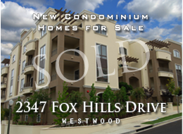 SOLD:  One, two and three bedroom new homes with two-and-a-half bathrooms.  All units corner units. Gourmet kitchens, walk-in closets, fireplaces, crown moldings, high-end finish materials, gated parking.  Close to Century City and Rancho Park.