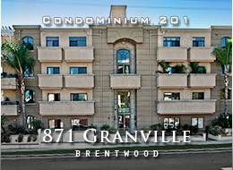 SOLD:  Light and bright gorgeous PENTHOUSE condominium home with 3 bedrooms and  2 1/2 baths.  Views, crown moldings, wood floors, fireplace, gourmet kitchen, high-end finish materials.  Adjacent to San Vicente and the heart of Brentwood's fine shopping + dining.