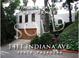 SOLD:  Three bedroom, 2 bathroom contemporary home in desirable South Pasadena.  Open and airy floor plan, wood floors, vaulted wood ceilings.  Hardwood floors.  Low maintenance landscaping.  New deck.  Close to shopping, entertainment, dining, transportation.