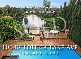SOLD:  Beautiful waterfront Toluca Lake estate with dazzling southern lake views from throughout the 4 bedroom, 6.5 bathroom home.  An exquisite mater suite accessed via private elevator.  Newly renovated kitchen.  Stone, wood and other premium materials throughout.