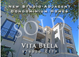 SOLD:  Exquisitely-appointed new construction condominium homes featuring 9-18 foot ceilings, custom moldings, hand-scraped mahogany floors, Viking® appliances, light and airy master suites, smart-wiring and more.  Close to studios, shopping and entertainment.