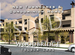 SOLD:  23 new 2 and 3 bedroom town homes and condominium homes.  The essence of Toluca Lake cosmopolitan living. Spacious balconies/patios, custom crown moldings and baseboards, distressed wood floors, gas fireplaces, high ceilings, laundry rooms, and other amenities.